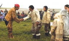 Scene from Inuit Cree Reconciliation