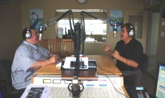 Luke MacLeod interviewing 1964 Olympic gold medal winner Billy Mills