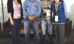 Nian Matoush with David Suzuki and Adult Education teachers.