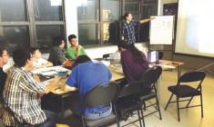 Artist Walter Kaheró:ton Scott brings comic art to Kahnawake kids