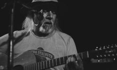 Native Artists Willie Thrasher and Willy Mitchell perform in Montreal