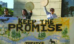 Protesting the Site C dam in British Columbia