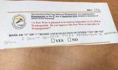 """Powwow goes ahead despite """"No"""" vote in Waskaganish referendum"""